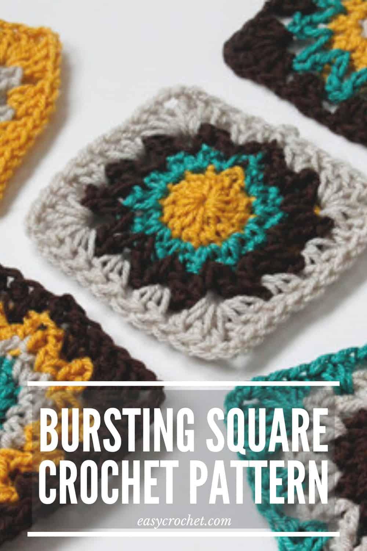 Crochet Square Motif Pattern via @easycrochetcom