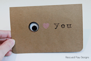 Eye Love you Valentines Day Card by Rescued Paw Designs