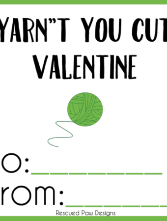 Yarn Valentine Printable for Crocheters