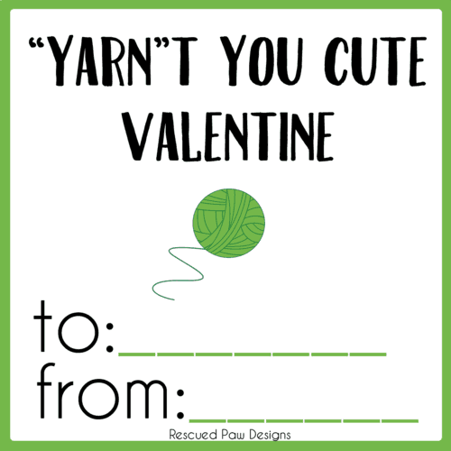 Yarn Valentine Printable PDF