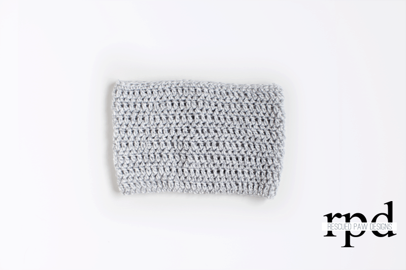 Lightweight Grey Cowl - Free Crochet Pattern by Rescued Paw Designs