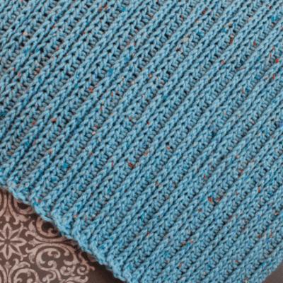 Knit Like Crochet Blanket Pattern