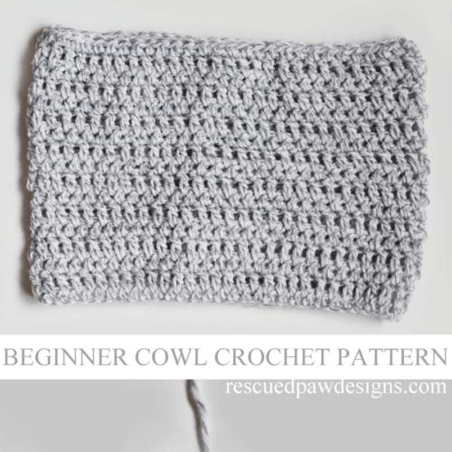 Lightweight Grey Cowl – Free Crochet Pattern