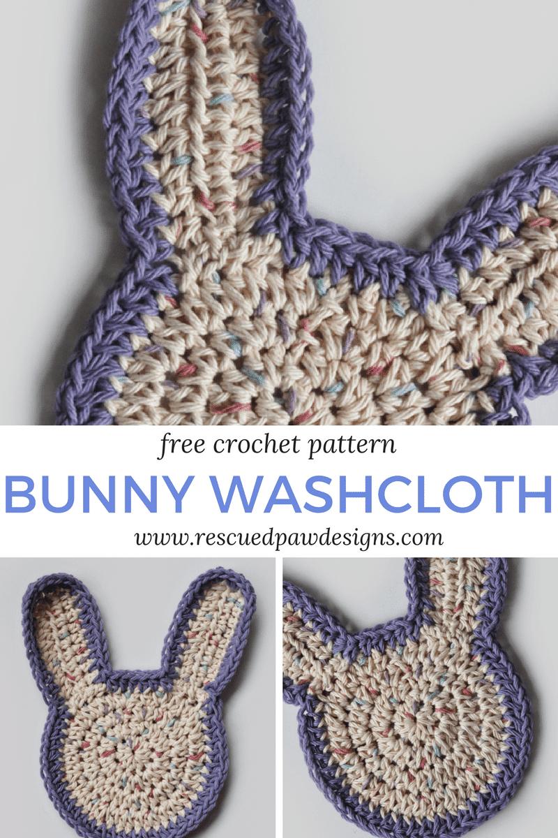 Free Washcloth Crochet Bunny Pattern Rescued Paw Designs