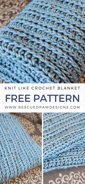Knit Like Crochet Blanket