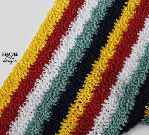 Crochet Pattern Wavy Ways Blanket