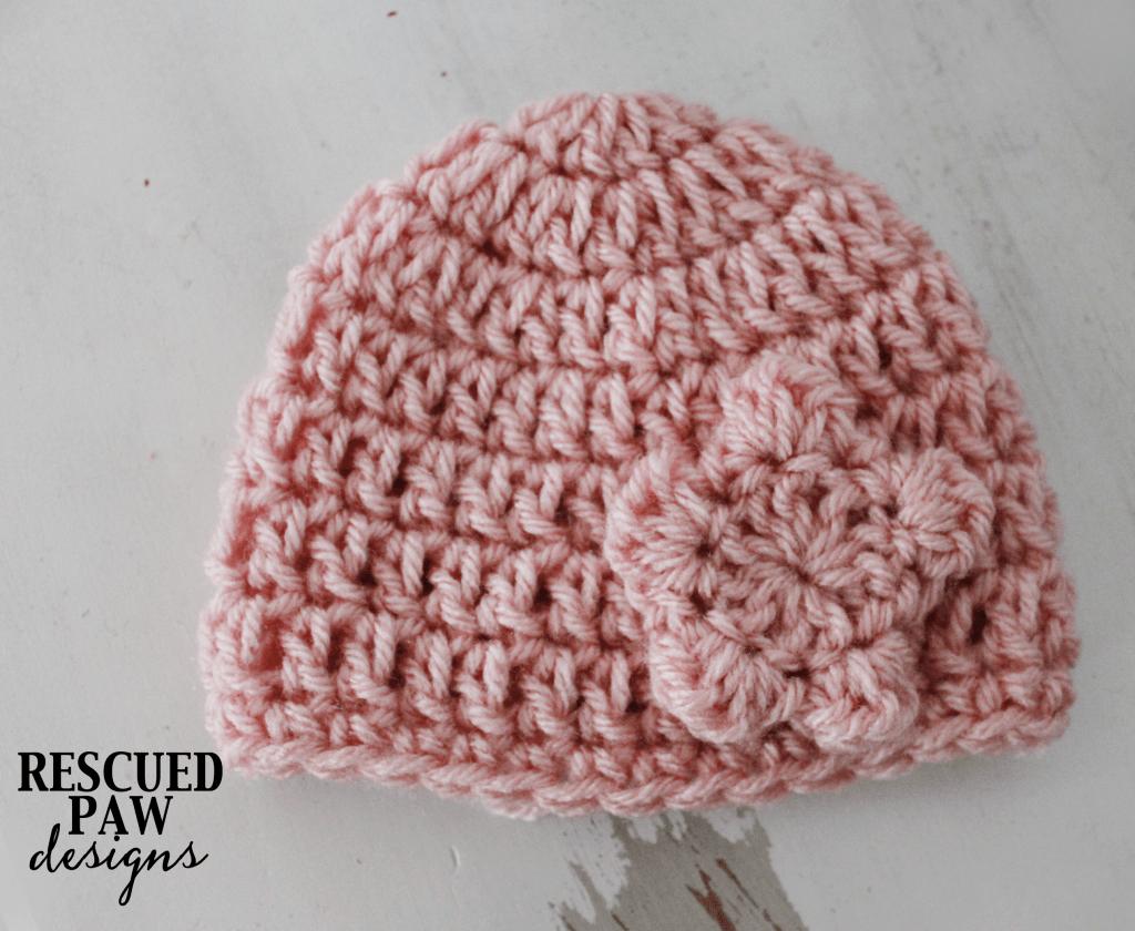 Crochet Newborn Flower Hat Pattern