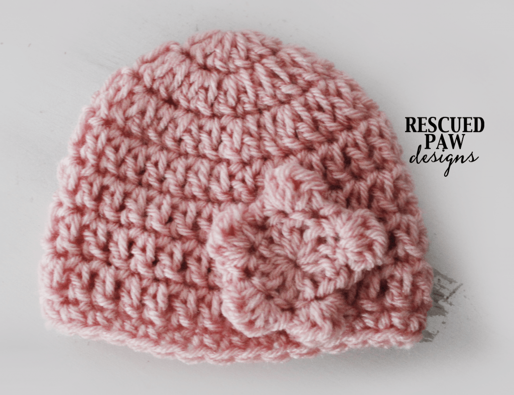 Crochet Newborn Flower Hat || FREE CROCHET PATTERN || Easy Crochet - Newborn Hat Crochet Pattern