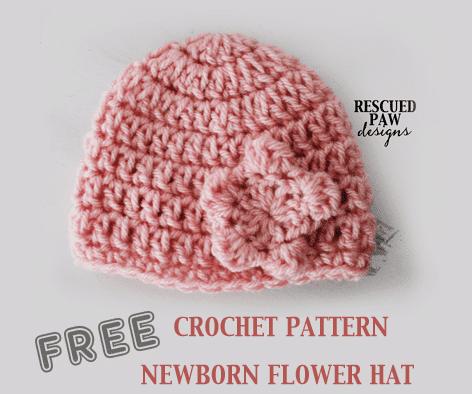 newborn crochet hat pattern picture