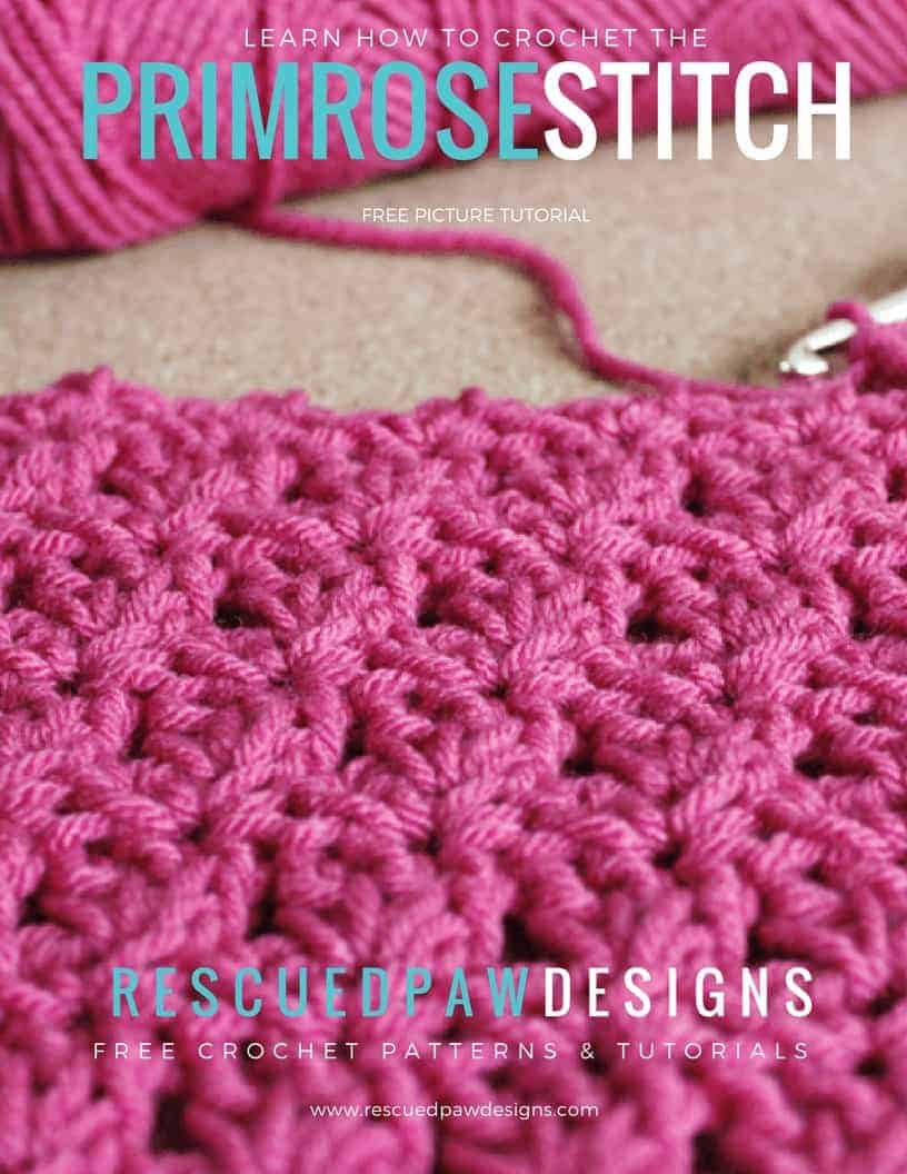 The crochet primrose stitch is a relatively easy stitch to learn and perfect for beginners! It creates an interesting shell look and makes any project a little more appealing to the eye. It looks great in most any crochet project and looks even more amazing when used to make a blanket. Have fun using this primrose stitch pattern to create! :)