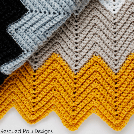 chevron pattern crochet blanket