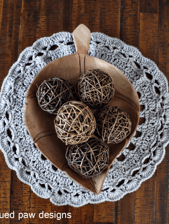 Doily Crochet Pattern - Rescued Paw Designs