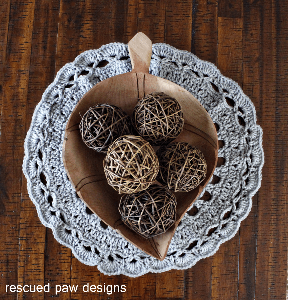 Doily Crochet Pattern - Rescued Paw Designs