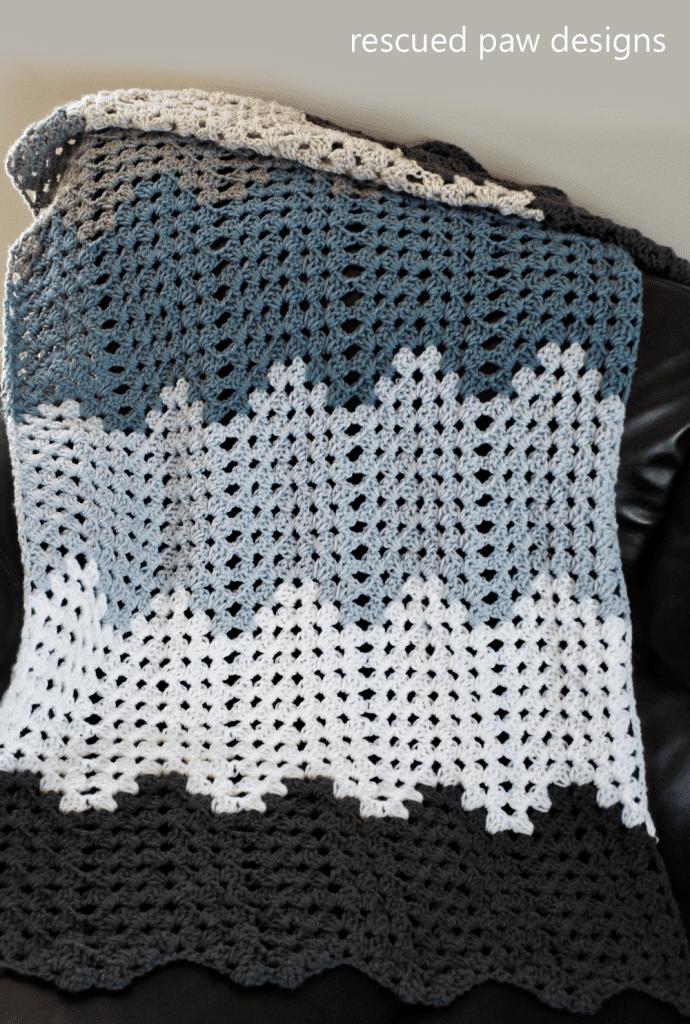 Crochet Blanket Pattern - Granny Ripple Blanket Pattern