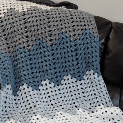 Rippling Trellis Crochet Blanket Pattern