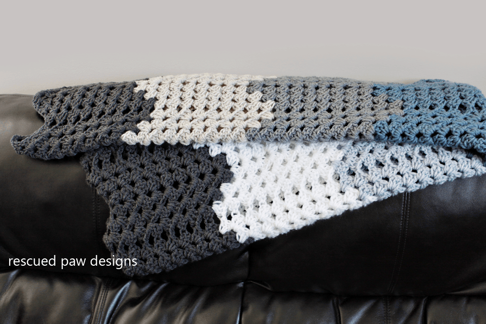Ripple Blanket Crochet Pattern Rescued Paw Designs Crochet