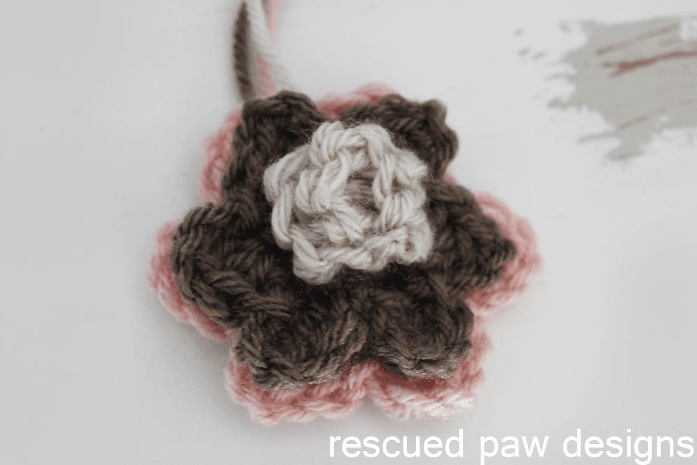 Double Layer Rosette Flower Crochet Pattern - Easy Crochet