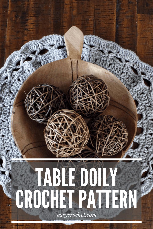 Table Doily Crochet Pattern - Free Crochet Pattern for a Doily from Easy Crochet via @easycrochetcom