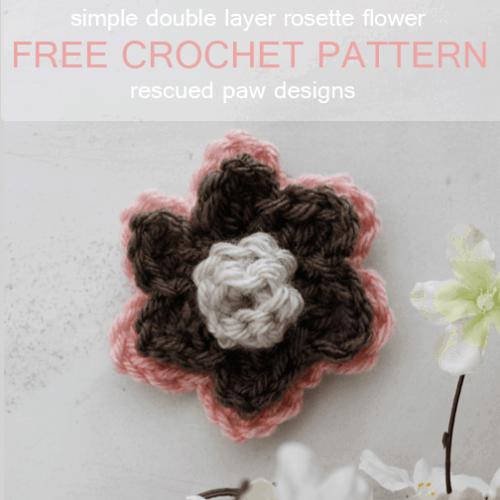 Double Layer Rosette Flower Crochet Pattern