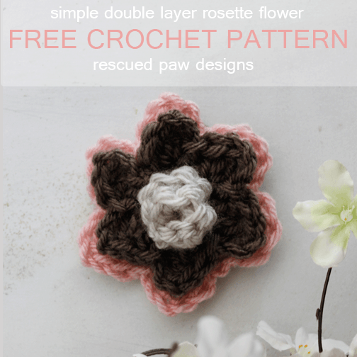 Double Layer Rosette Flower Crochet Pattern
