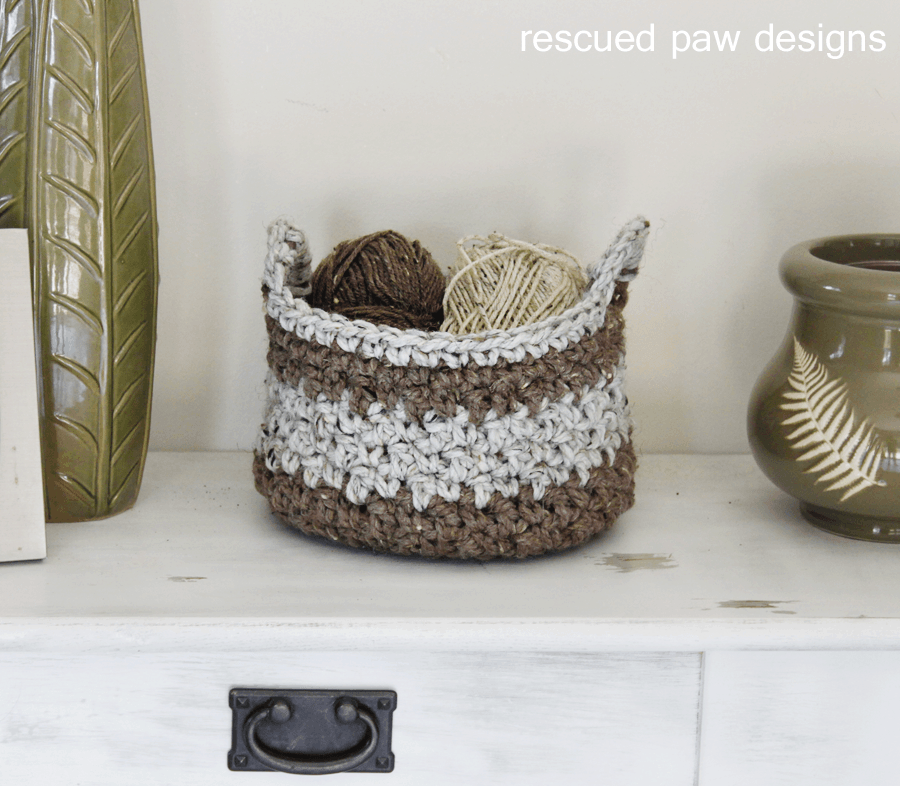 Crochet Basket Pattern || Rescued Paw Designs