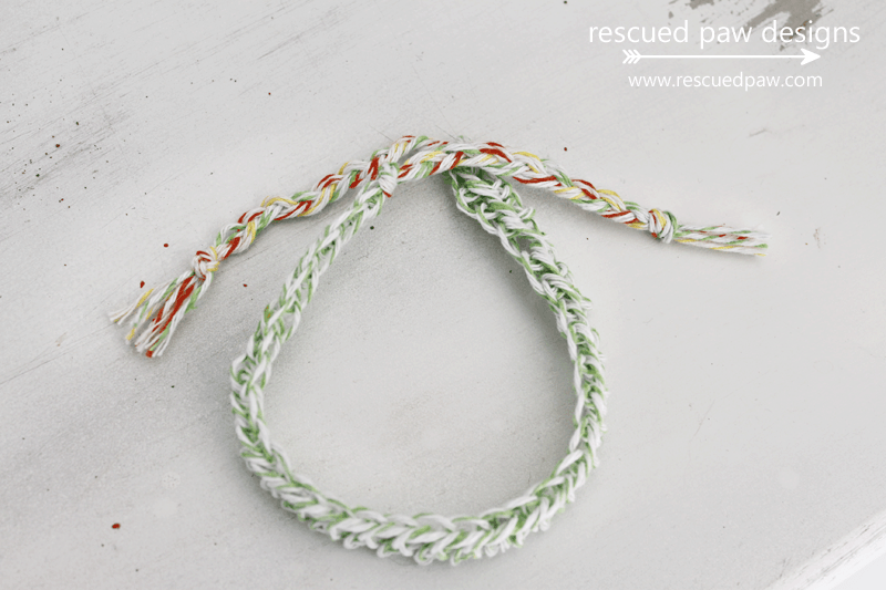 Crochet Bracelet with bakers twine