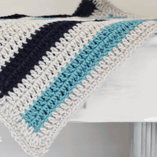 Simple Striped Crochet Blanket Pattern to Make!