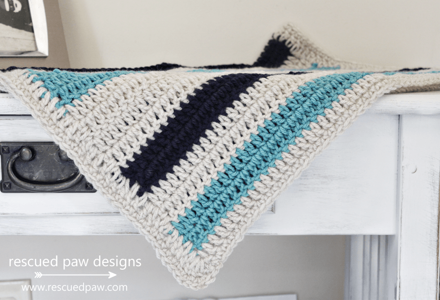 Beginner Crochet Blanket Pattern with Stripes
