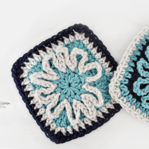 Blooming Flower Crochet Square Pattern