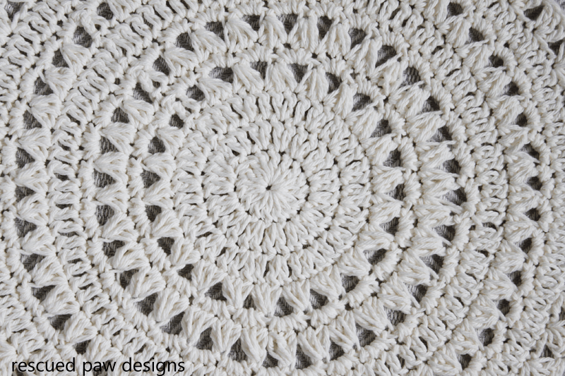 Free Crochet Pattern Simple Doily from Rescued Paw Designs