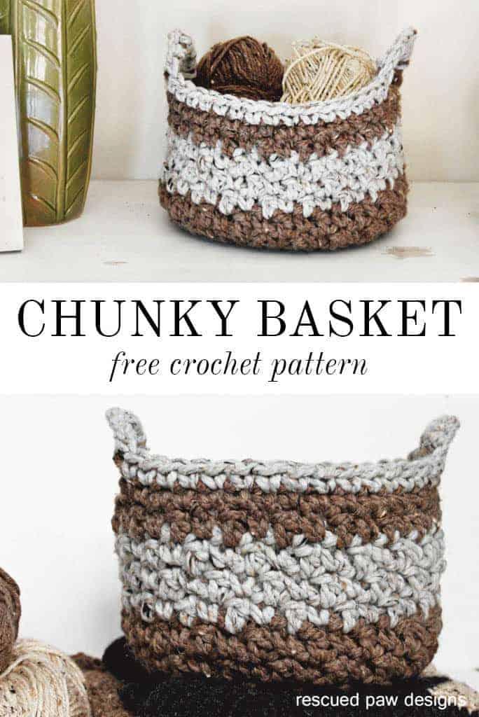 Chunky Crochet Basket Pattern Tutorial Free Crochet Basket Tutorial