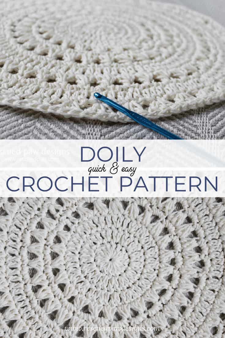 Free Crochet Doily Pattern Tutorial Rescued Paw Designs