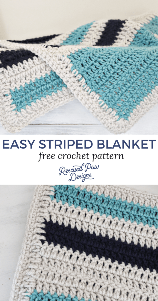 easy striped crochet blanket pattern