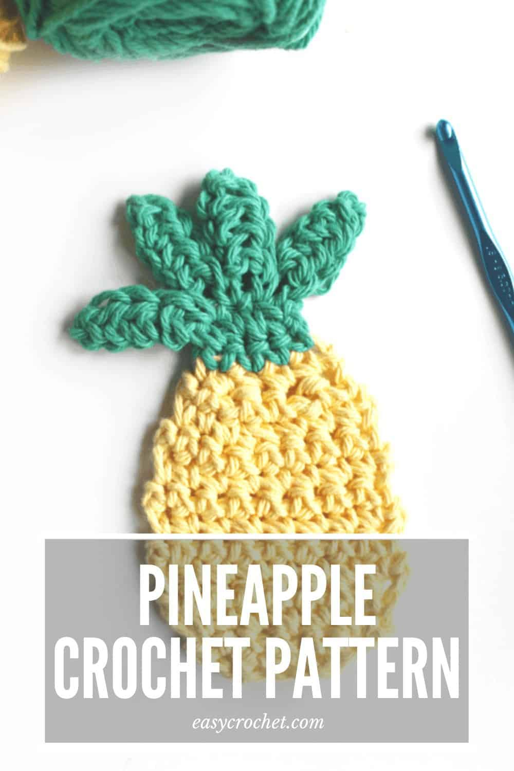 Free Pineapple Crochet Pattern by Easy Crochet - great for appliques or toy food! via @easycrochetcom