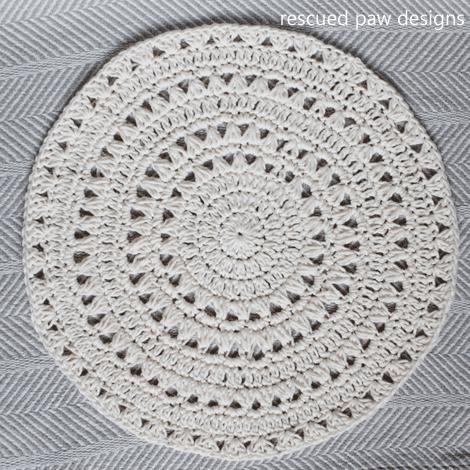 Free Crochet Doily Pattern ⋆ Rescued Paw Designs Crochet
