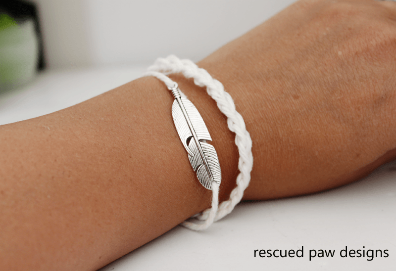 Feather Crochet Bracelet Pattern - Rescued Paw Designs
