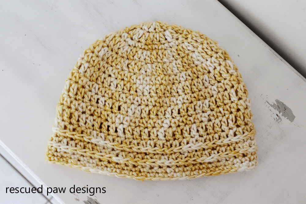 Simple Chained Crochet Beanie Pattern from Easy Crochet