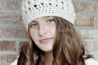 Crochet Beanie Pattern - Dreaming of Winter Beanie Crochet Pattern Rescued Paw Designs