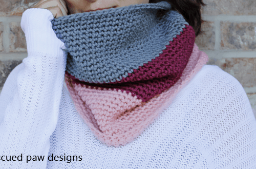 "New in the Shop || The ""Leigh"" Color blocked Cowl Pattern"