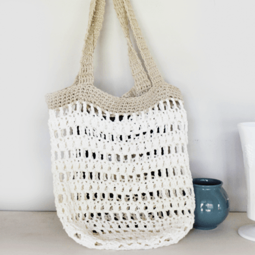 Beginner Crochet Market Tote Bag