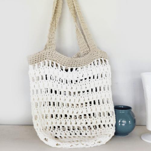 Beginner Crochet Market Tote Bag