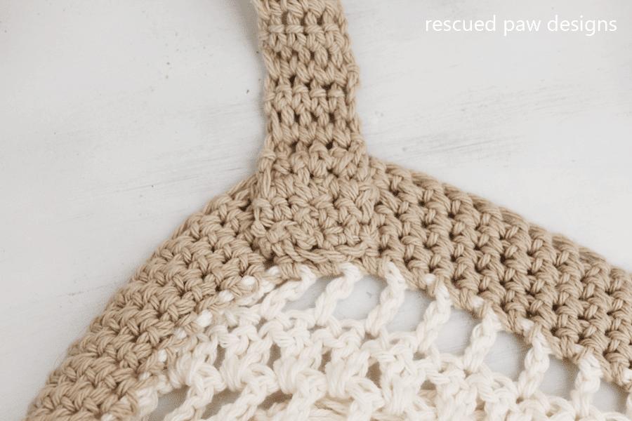 Market tote crochet pattern Easy Crochet4