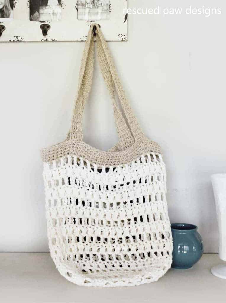 Beginner Crochet Market Tote Bag ⋆ Crochet Bag Tutorial