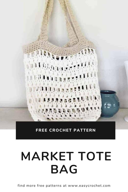Beginner Crochet Market Tote Bag Easy Crochet