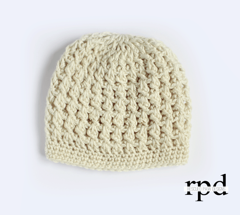Textured Chunky Thick Yarn Crochet Hat