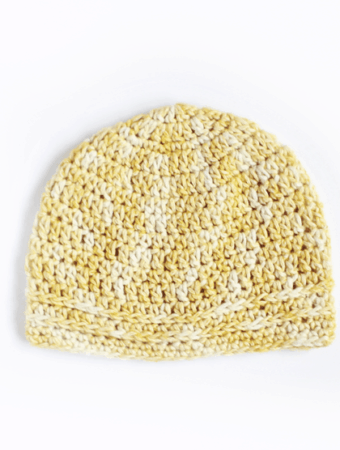 Simple Chained Crochet Beanie Pattern