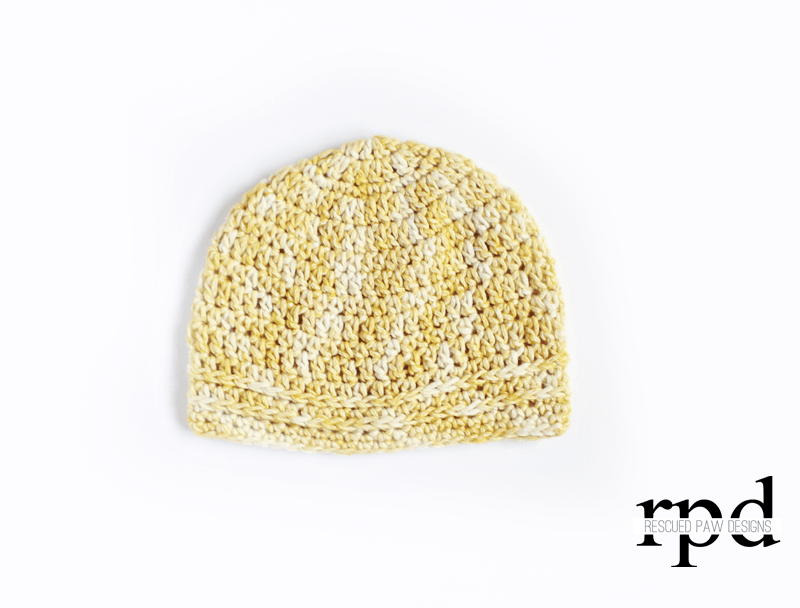 Simple Chained Crochet Beanie Pattern from Rescued Paw Designs #patons #easy #tutorial #diy