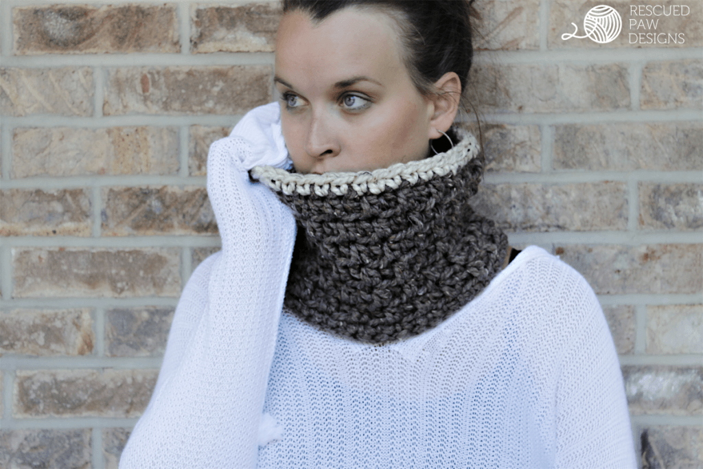 Free Crochet Cowl Pattern - The Jamie by Rescued Paw Designs - Free Chunky Crochet Cowl Pattern