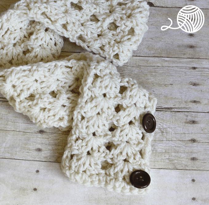 Button Scarf Crochet Pattern