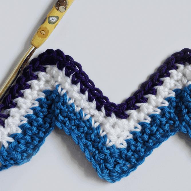 Simple Chevron Crochet Tutorial